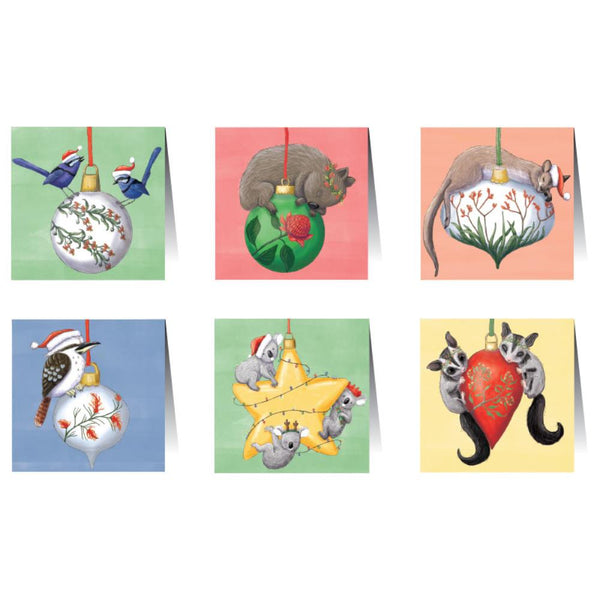 Card Set Bauble Animals