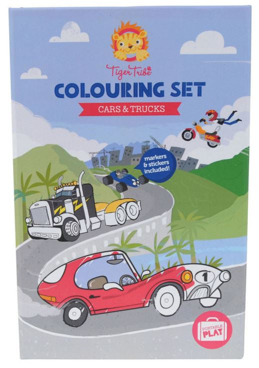 Tiger Tribe Travel Colouring Sets - Cars & Truck and Big & Bold