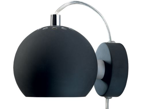 Felix Swivel Ball Wall Light Matte Black D12xL15cm