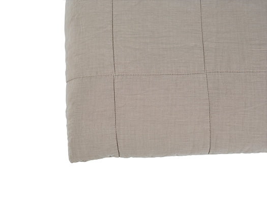 Asher Stone Washed Cotton Quilt Q/K Stone 240x260cm