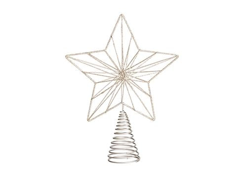 Fjord Metal Tree Topper Champagne H24cm