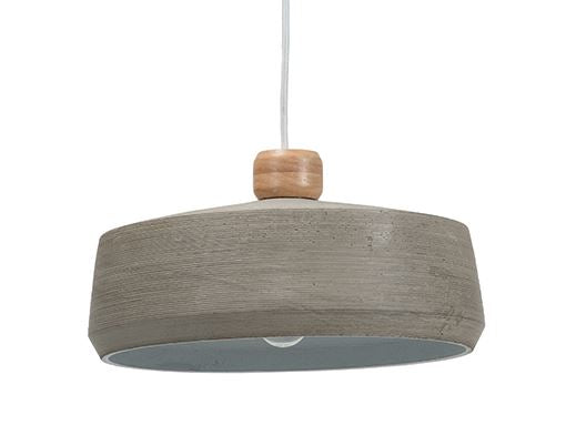 Gecko Concrete Pendant Light Wide Sml D34xH16cm