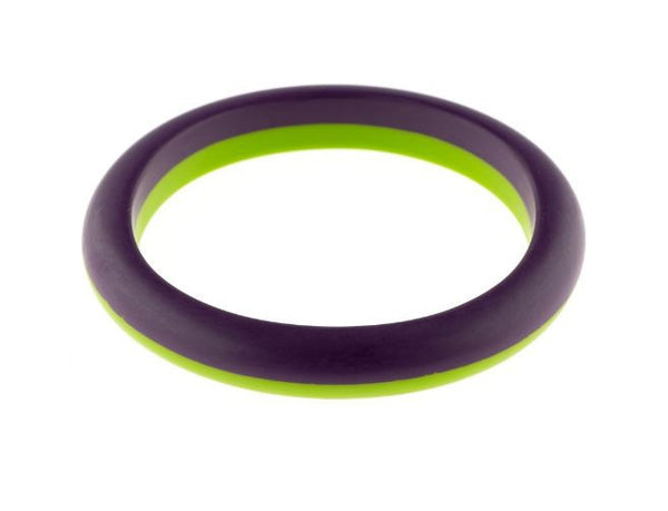 Wonderland 2 Tone Bangle Purple Lime