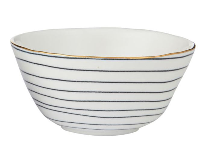 Amhara Condiment Stripe Bowl