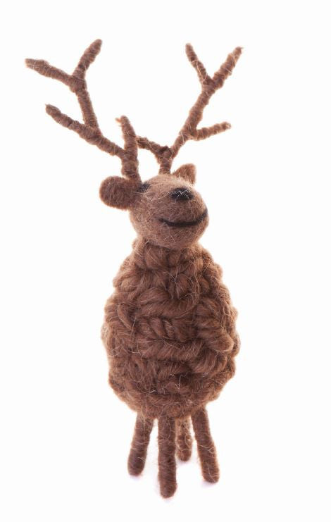 Furry Friends Stand Woolly reind B 24cm