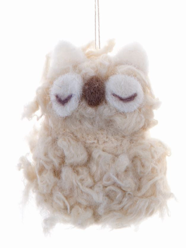 Furry Friends Hang Woolly Owl C 9cm