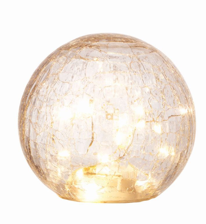 Drift LED Crackle Glass Ball L 20cm