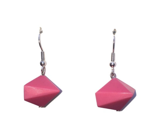 Carousel Candy Drop Earrings Hot Pink