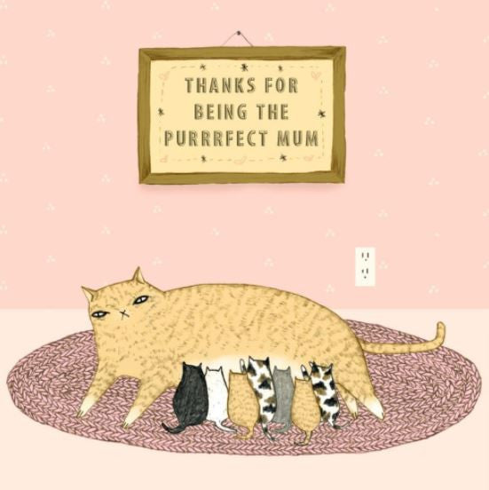 Greeting Card Purrfect Mum
