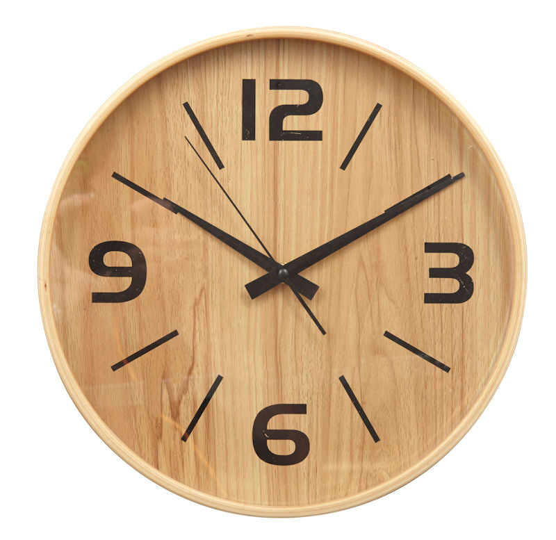 Frankie Wall Clock Natural