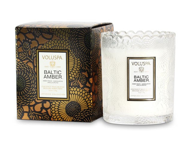 Voluspa Baltic Amber Scalloped Candle