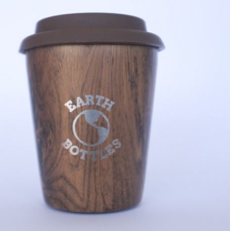 Earth Bottle Coffee Cup Pale Timber 8oz