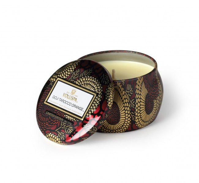 Voluspa Goji & Tarocco Orange Small Tin Candle