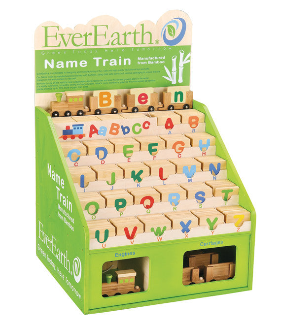 EverEarth Bamboo Name Train Letters