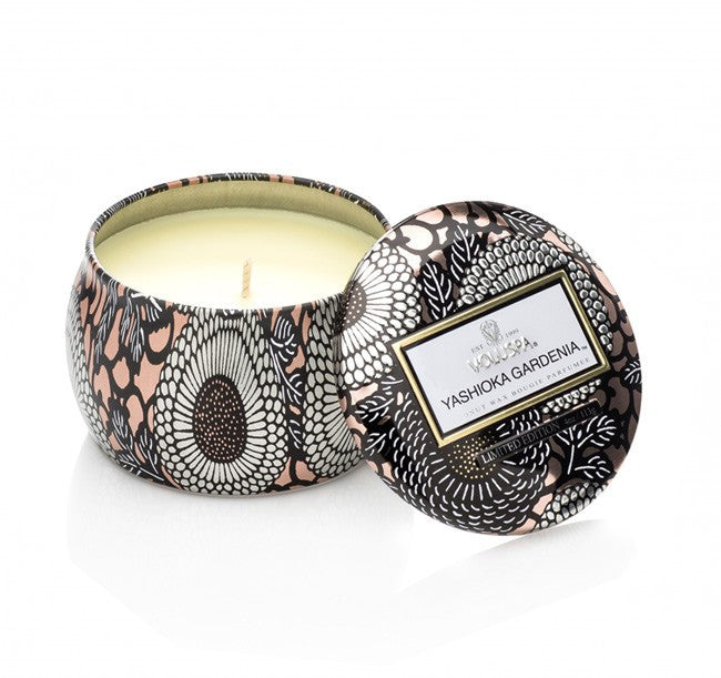 Voluspa Yashioka Gardenia Small Tin Candle