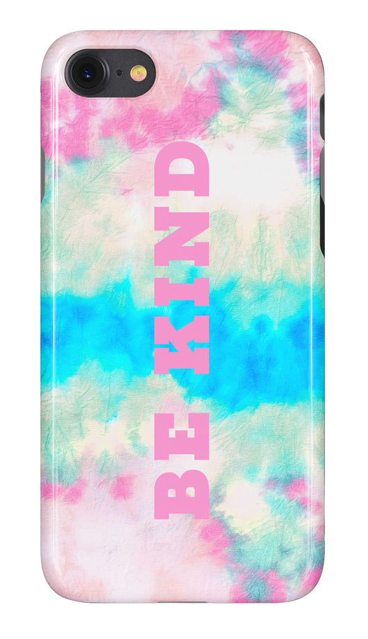 'Be Kind' Tie Dye Wave Design Phone Case