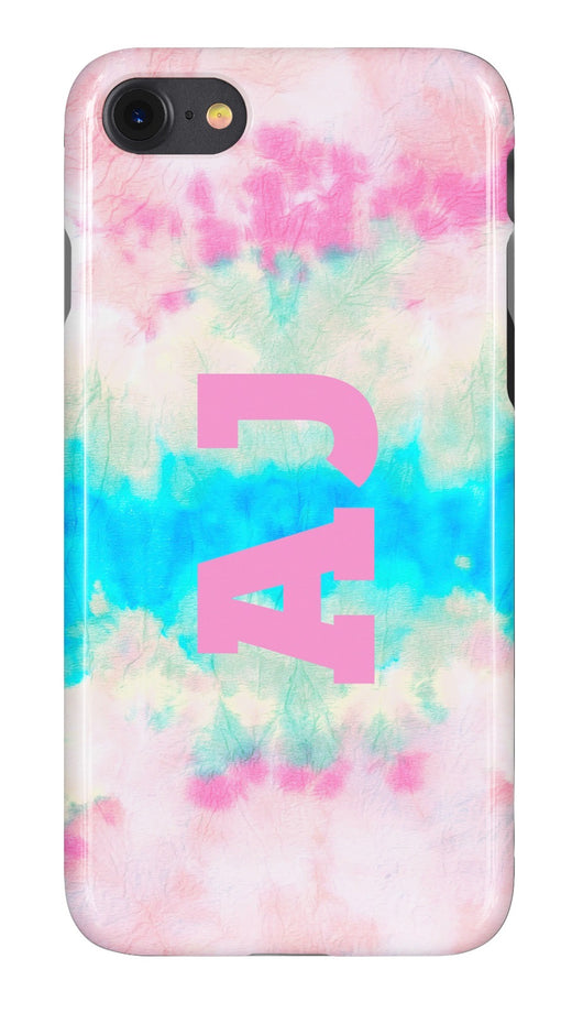 Tie Dye Wave Design Initialed Case