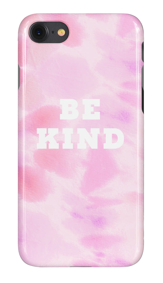 'Be Kind' Tie Dye Multi Pink Design Personalised Phone Case