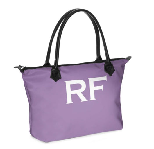 Personalised Luxury Tote Bag Handmade in Sumptuous Nappa Leather or Monroe Satin. Lilac