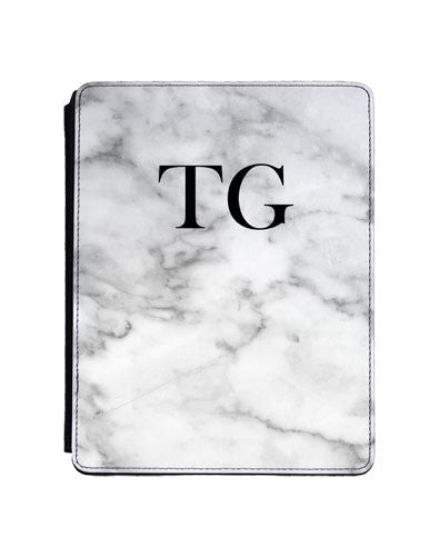 White Marble Tablet Case