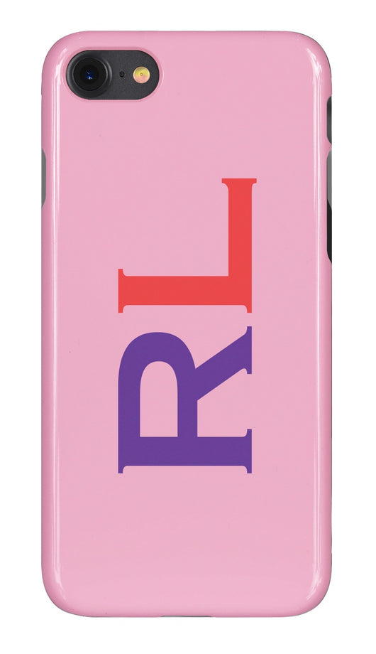 Gloss Pink with Purple and Red Initials