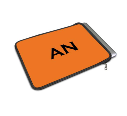 Personalised Luxury Macbook Pouch in Orange