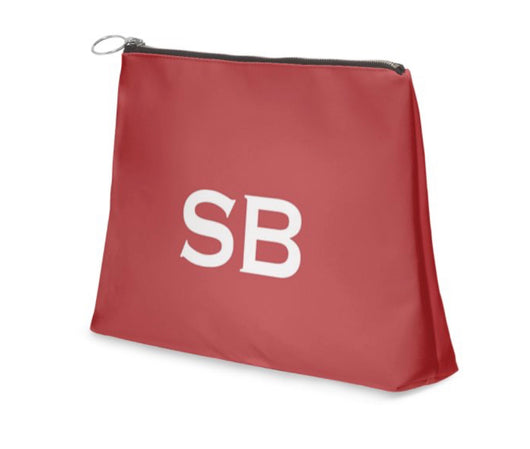 Superior Personalised Luxury Nappa Leather Clutch Bag Red