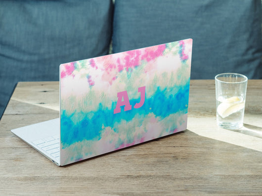Personalised Hardshell MacBook Tie Dye with Matching Initials or Name