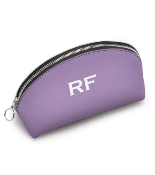 Personalised Genuine Luxury Nappa Leather Cosmetic Bag Lilac