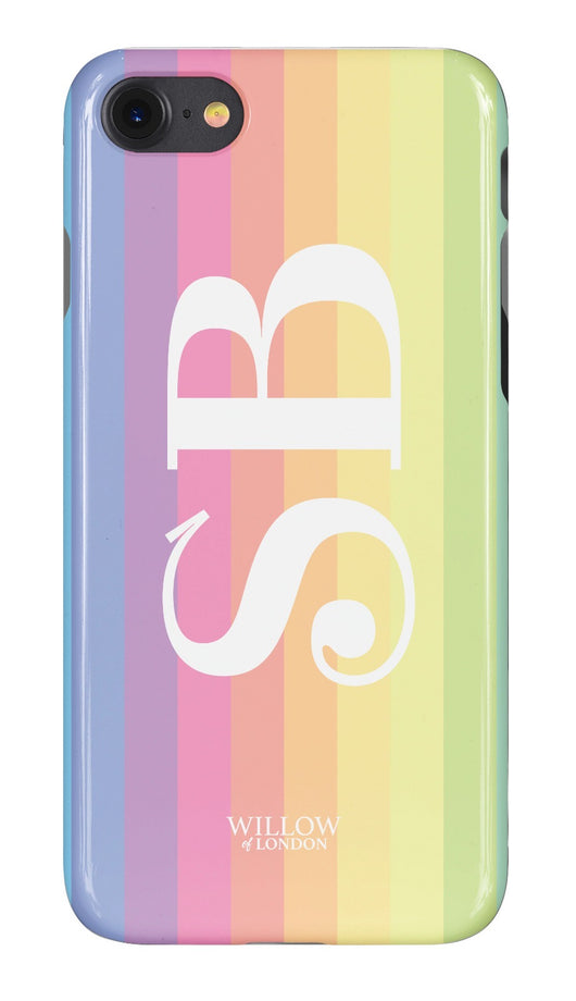 Rainbow Design Initialed Case with Funky Font