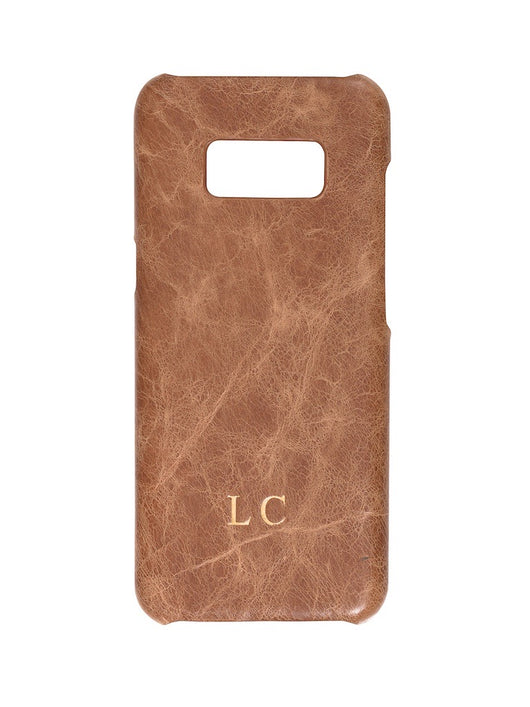 Luxury Genuine Leather Smartphone Case Coffee