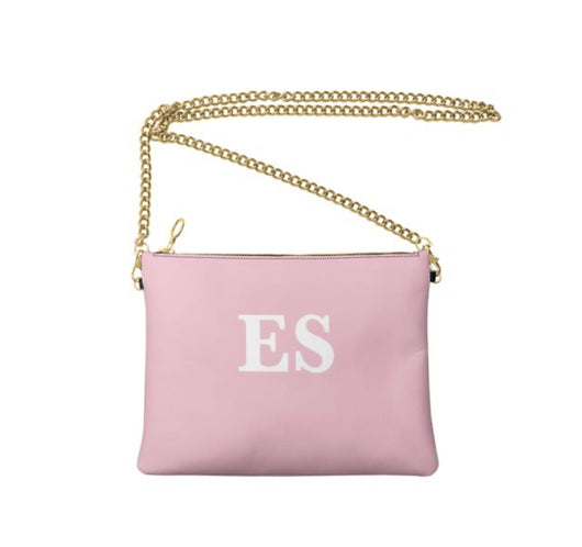 Personalised Luxury Nappa Leather Crossbody Bag Pink