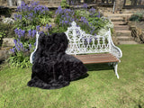Sumptuous Contrasting Faux Fur Glossy Black