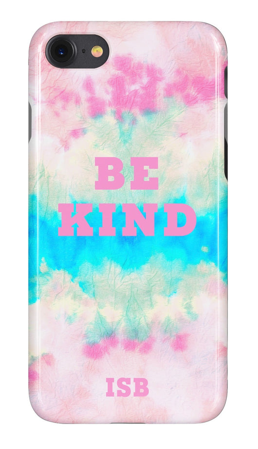 'Be Kind' Tie Dye Wave Design Personalised Phone Case