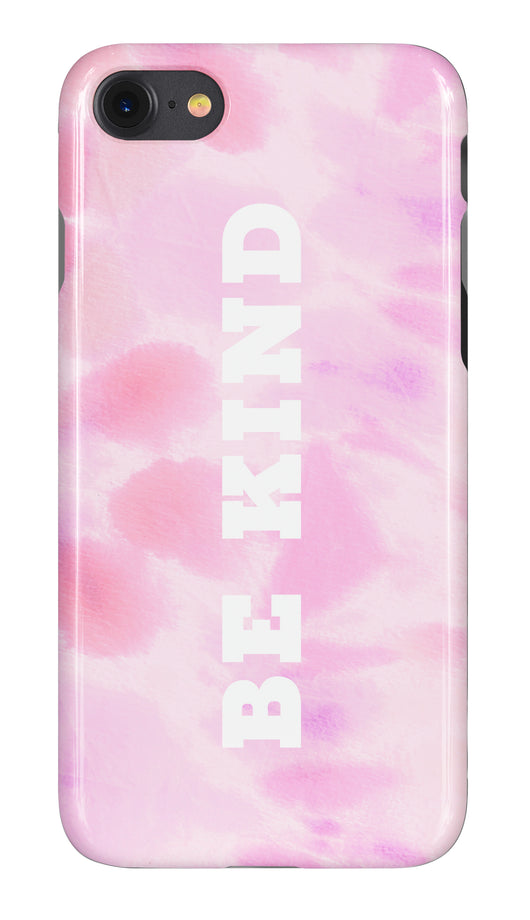 'Be Kind' Tie Dye Multi Pink Design Phone Case