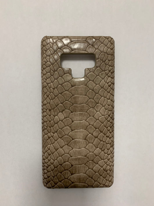 Luxury Leather Snakeskin Effect Coffee