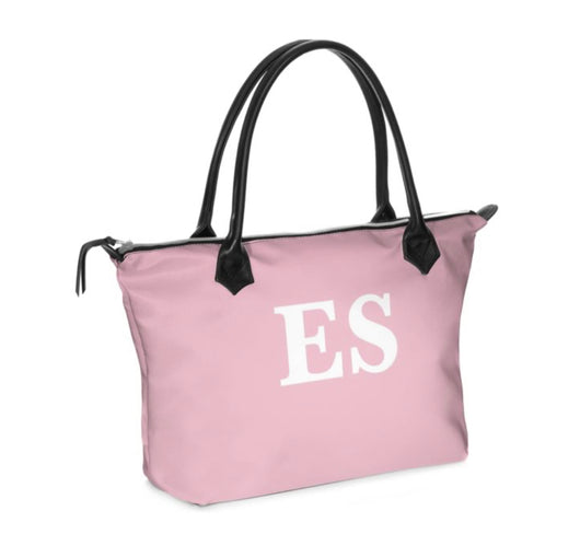 Personalised Luxury Tote Bag Handmade in Sumptuous Nappa Leather or Monroe Satin. Pink