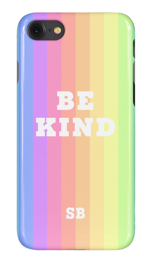 'Be Kind' Rainbow Design Personalised Phone Case