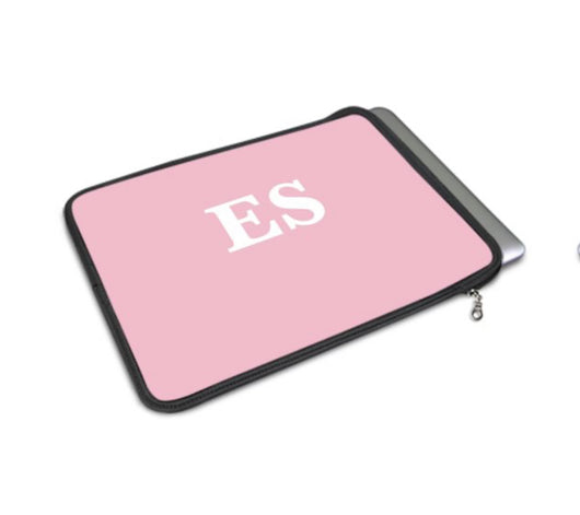 Personalised Luxury Macbook Pouch in Pink