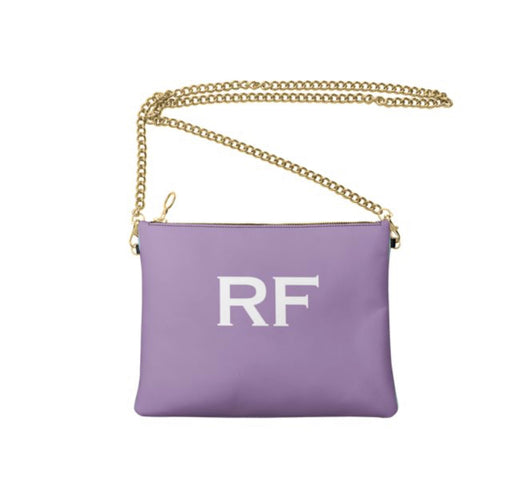 Personalised Luxury Nappa Leather Crossbody Bag Lilac