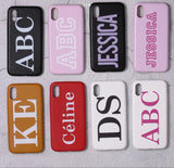 Leather Personalised Case with Printed Name or Initials