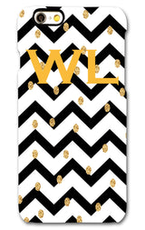 Black Zig Zag with Gold Motifs