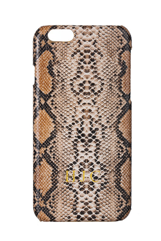 Luxury Faux Snake Skin Brown