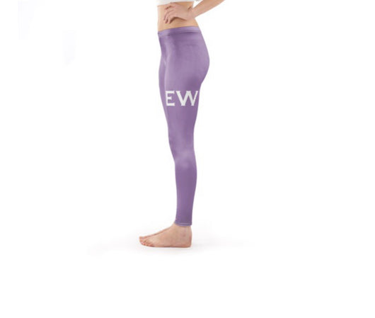 Personalised Bespoke Leggings Lilac with White Initials