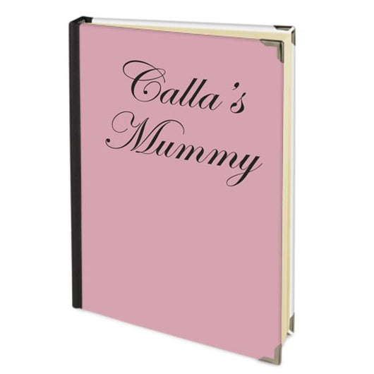 Personalised Satin Journal Pink with Children's Names Handbound In The UK