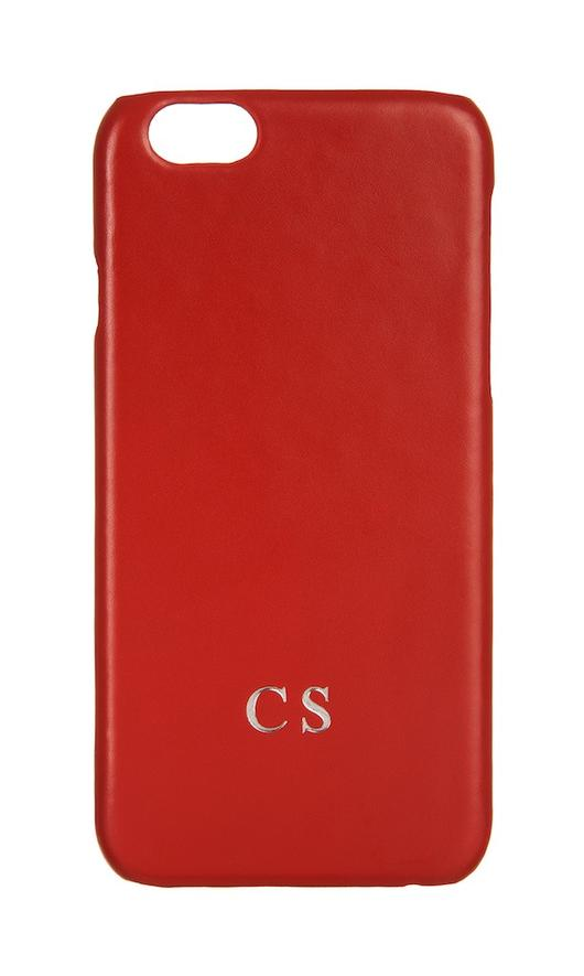Luxury Genuine Leather Smartphone Case Red