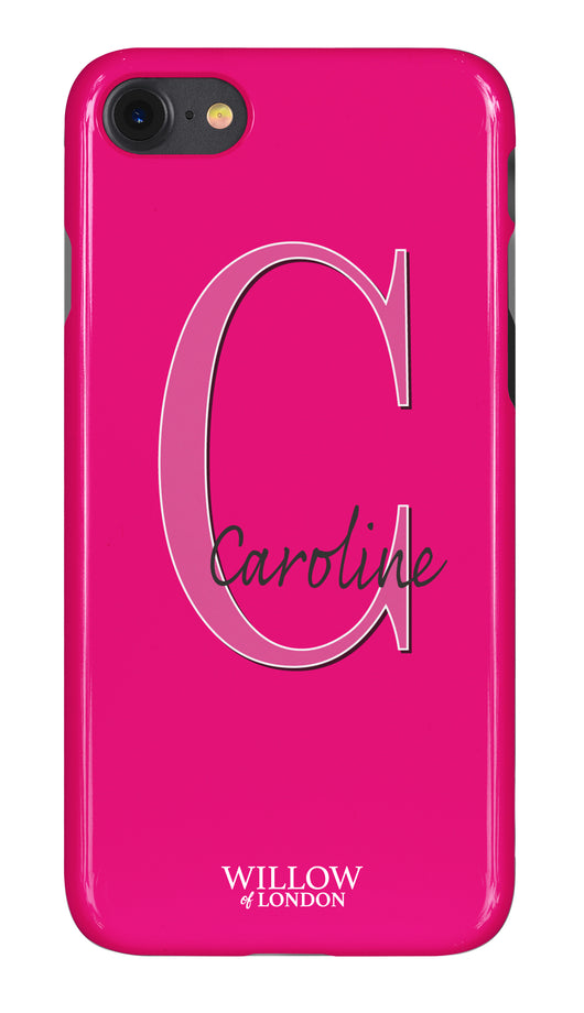 Gloss Hot Pink Signature Case with Large Initial