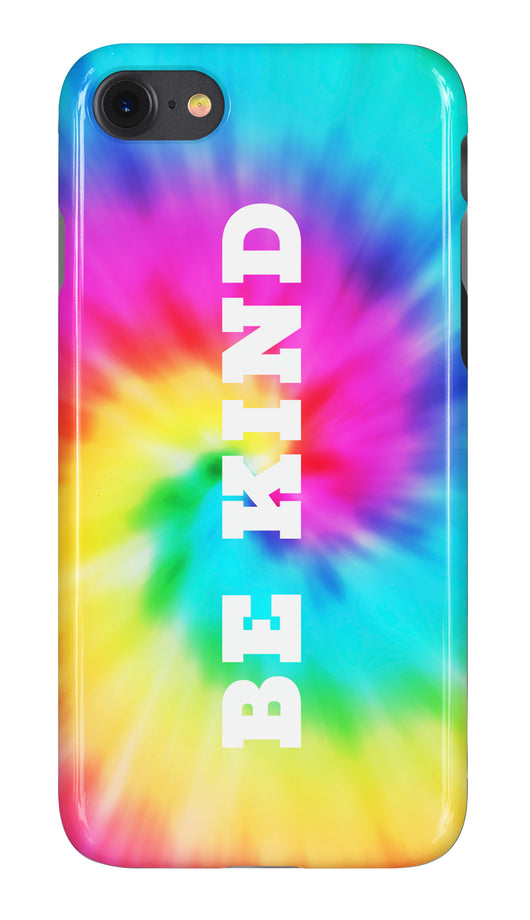 'Be Kind' Tie Dye Swirl Design Phone Case