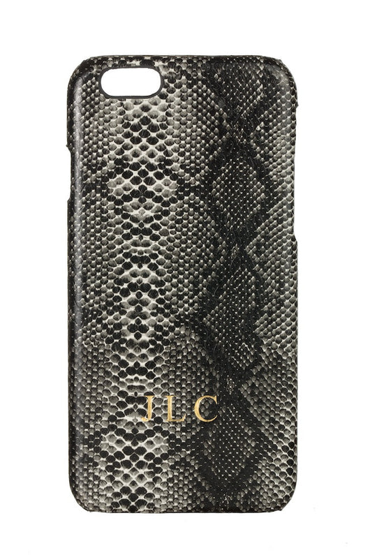 Luxury Faux Snake Skin Dark Grey