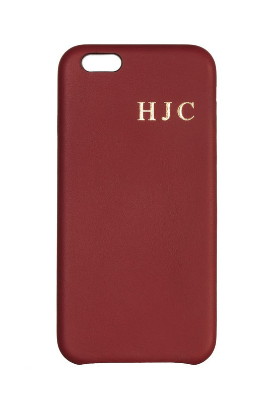 Luxury Genuine Leather Smartphone Case Burgundy